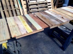 All lined up for sanding.